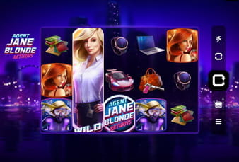 Die Mobile Version von Agent Jane Blonde Returns, einem Slot von Microgaming