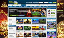 Die Startseite des William Hill Casinos