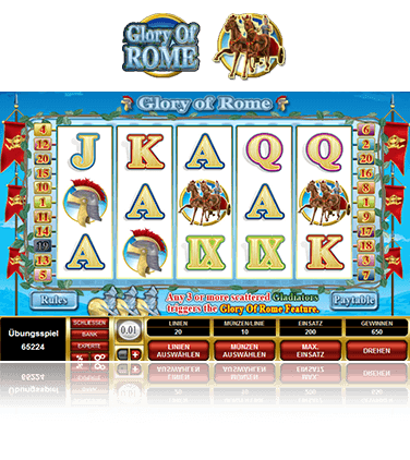 Microgaming Glory of Rome Spiel