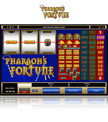 Microgaming Pharaohs Fortune Spiel