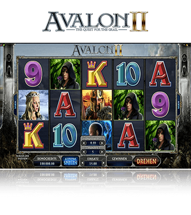 Microgaming Avalon II Spiel
