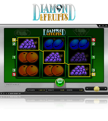 Merkur Diamond and Fruits Spiel