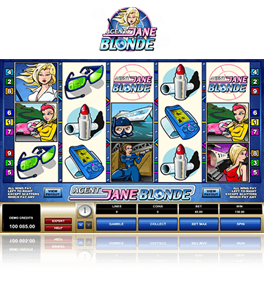 Microgaming Agent Jane Blonde Spiel