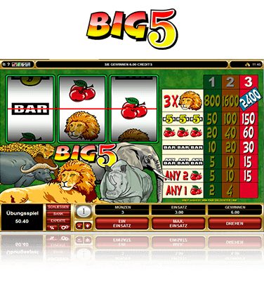 Microgaming Big 5 Spiel