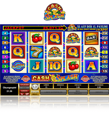 Microgaming Cash Splash 5 Reels Spiel