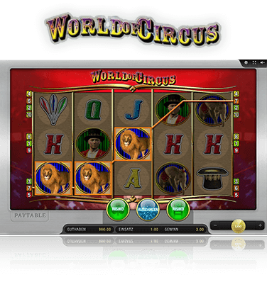 Merkur World of Circus Spiel