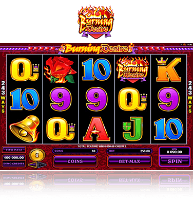 Microgaming Burning Desire Spiel