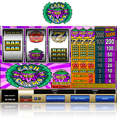 Microgaming Cash Clams Spiel