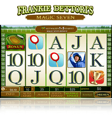 Frankie Dettoris Magic Seven Slot Spiel