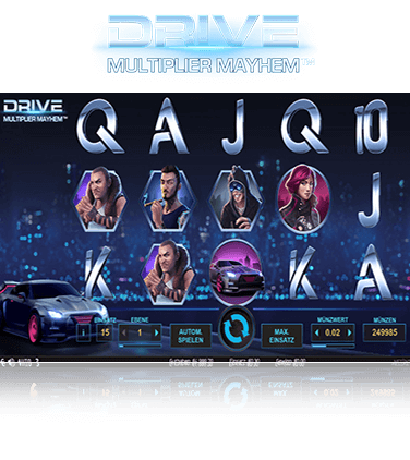 NetEnt Drive Multiplier Mayhem Spiel