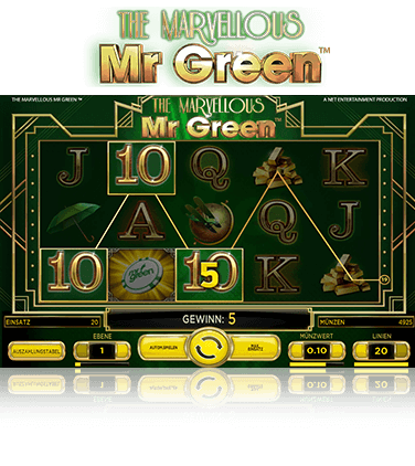 NetEnt The Marvellous Mr Green Spiel