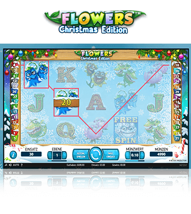 NetEnt Flowers Christmas Edition Spiel