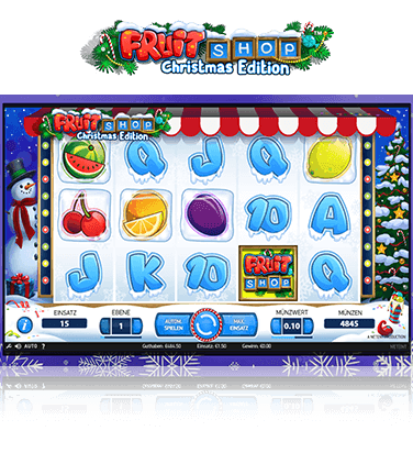 NetEnt Fruit Shop Christmas Edition Spiel