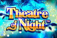 Das Logo des Theatre of Night Slots.