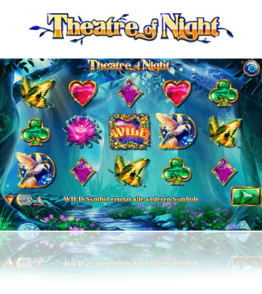 Die Walzen des Theatre of Night Slots.