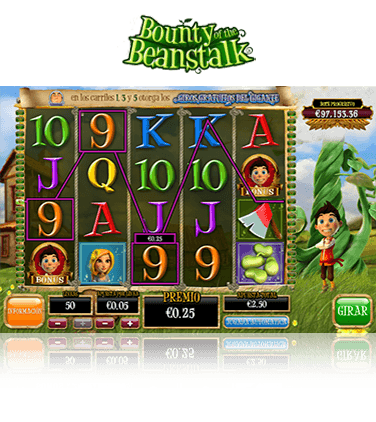 Vista previa de la slot Bounty of the Beanstalk.