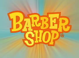 The Barber Shop Uncut slot game logo.