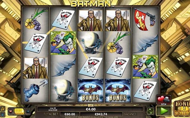 A slots game based on the ever popular Batman