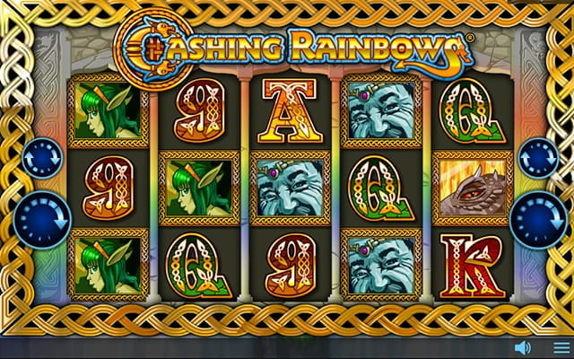 The Cashing Rainbows slot game.