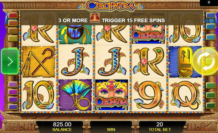 Cleopatra High-Stakes Slot game by IGT