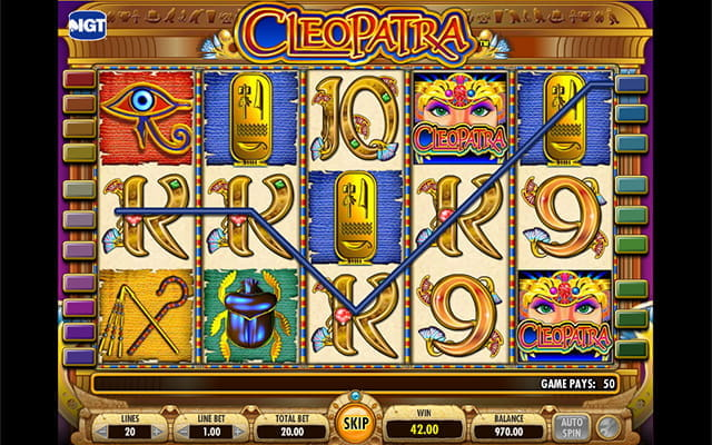 One of IGT's most popular games; Cleopatra