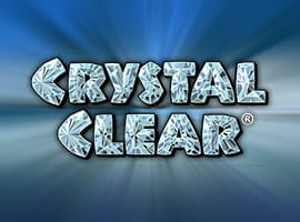 The Crystal Clear slot game logo.
