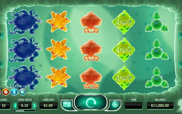 The Cryrus the Virus slot game.