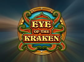 Eye of the Kraken slot game logo and free demo prompt.