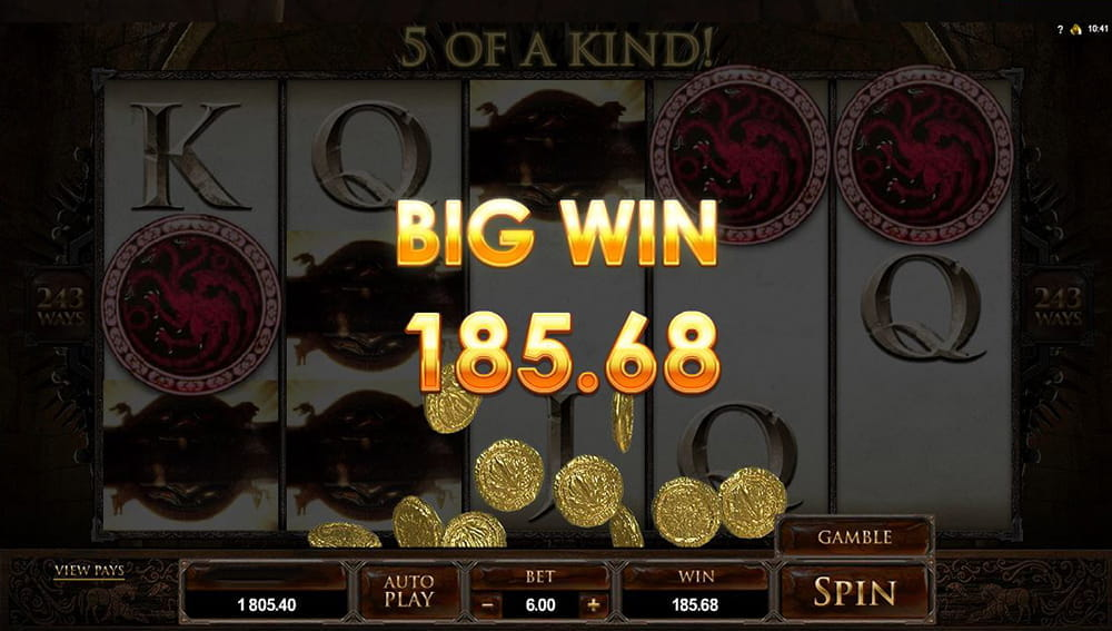 Game of Thrones 243 Ways Slot Review - All Details Listed