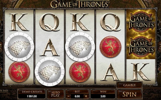 Enjoy the insanely popular HBO TV series Game of Thrones in slot format!