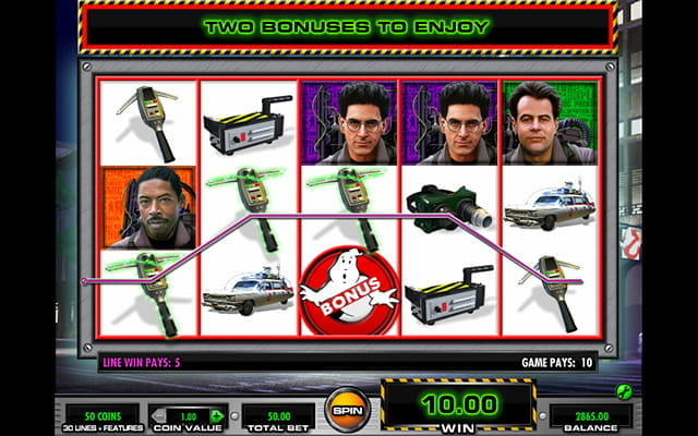 The slot based on the 1980's smash hit movie franchise Ghostbusters