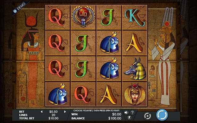 A preview of the slot game for Gods of Giza.