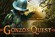 Image from Gonzo's Quest slot game