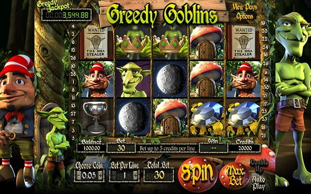 A preview of the Greedy Goblins 3D slot.