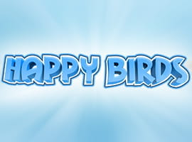 Happy Birds slot game logo and demo prompt.