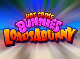 The Hot Cross Bunnies LoadsABunny slot game logo.