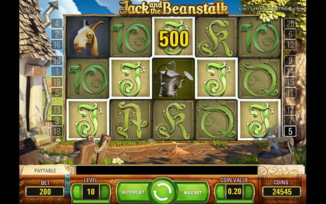 A Jack and the Beanstalk themed slot