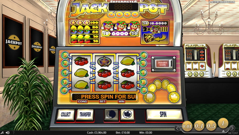 Jackpot 6000 Slot Review - RTP, Strategy and Free Play Mode
