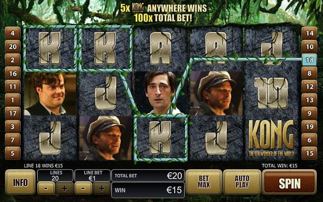 King Kong on the Empire State Building in Playtech's online slot