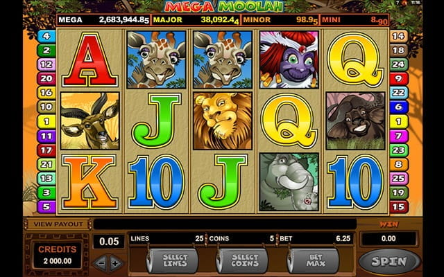One of the most famous jackpot slots of all time; Mega Moolah