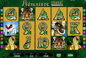 The Adventure Palace mobile slot