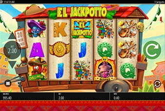The mobile version of the slot El Jackpotto