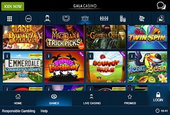 Overview of Slots on the Gala Casino App