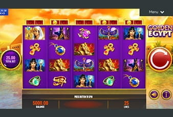 The Golden Egypt mobile slot playable at Casumo