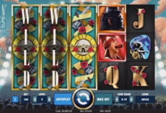 The Guns n Roses Mobile Slot on the Mr Green App