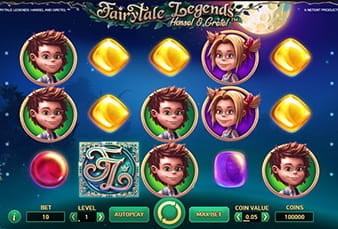 The slot Fairytale Legends Hansel and Gretel on mobile
