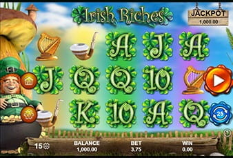 The mobile slot Irish Riches playable at 777