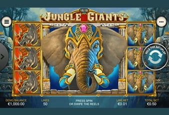 The mobile slot Jungle Giants at Mansion Casino