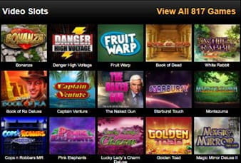 A mobile view of the Videoslots mobile slot library