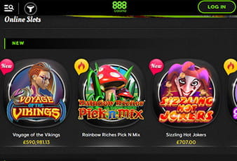 Mobile Slots at 888 Casino